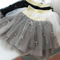 children's skirt korean style Net yarn princess skirt Solid color full bowknot decoration girls tutu skirt mini skirt