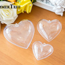 Ball Transparent-Box Heart-Ornament Gift Party-Decoration Acrylic Candy Christmas Wedding