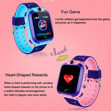 GPS Tracker SOS Smart Monitoring Positioning Phone Kids GPS Baby Watch Compatible IOS & Android Anti Lost OLED Child(China)