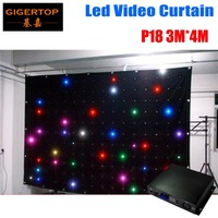 P18 3m x 4m led video curtain,led vision curtain,DMX dj backdrops,size can be costmized with one piece off line controller
