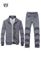 Осень 2017 г. Новое поступление Для мужчин наборы Повседневное 2 шт. с длинным рукавом Для мужчин бренд одежда куртки и брюки мужской костюм св