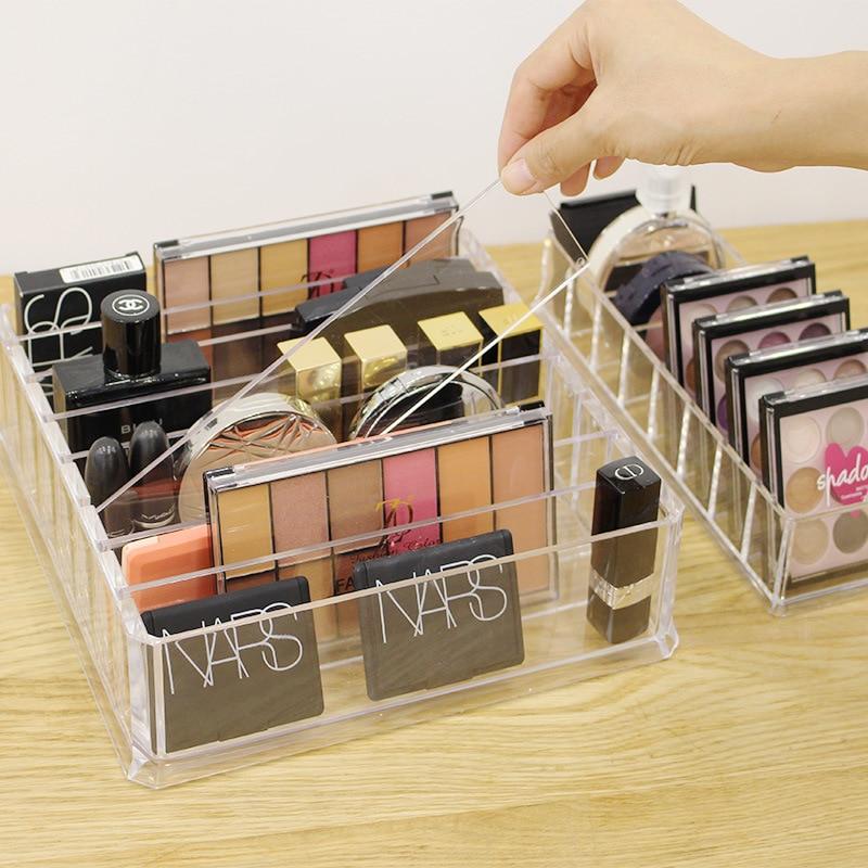 Organizador de Maquiagem de Acrílico transparente Caixa de Armazenamento De Cosméticos de Desktop Caixa de Maquiagem Em Pó Mulheres Titular Batom organizador de maquiagem