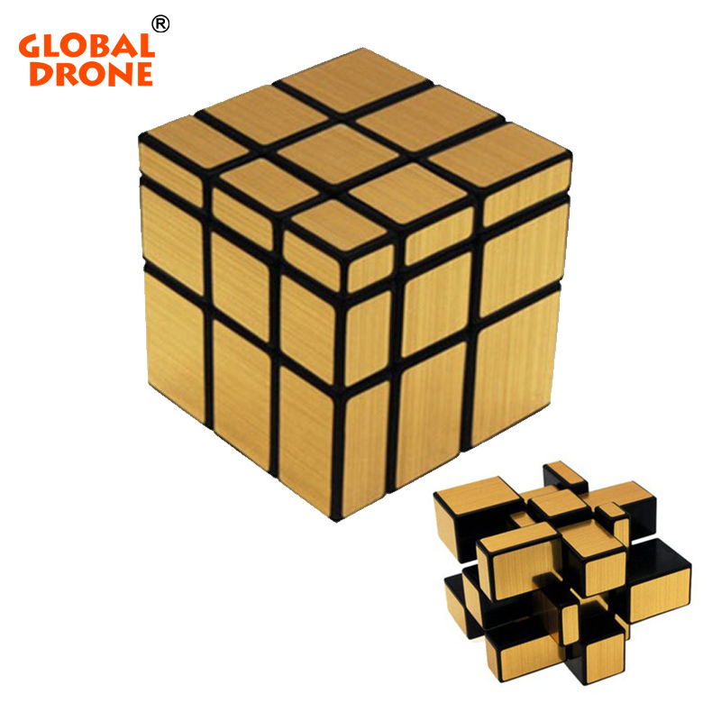 Global Drone 3X3X3 Magic Cube Wire Drawing Style Magic Mirror Cube Magic Challenge Puzzle Magnet Balls Spacer Beads Cube dayan 5 zhanchi 3x3x3 brain teaser magic iq cube