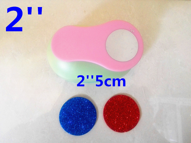 circle punch 2'' 5cm puncher Super big embossed device Scrapbooking Paper Puncher DIY tools 1 pcs 3d angel super big device embossed scrapbooking paper puncher diy tools