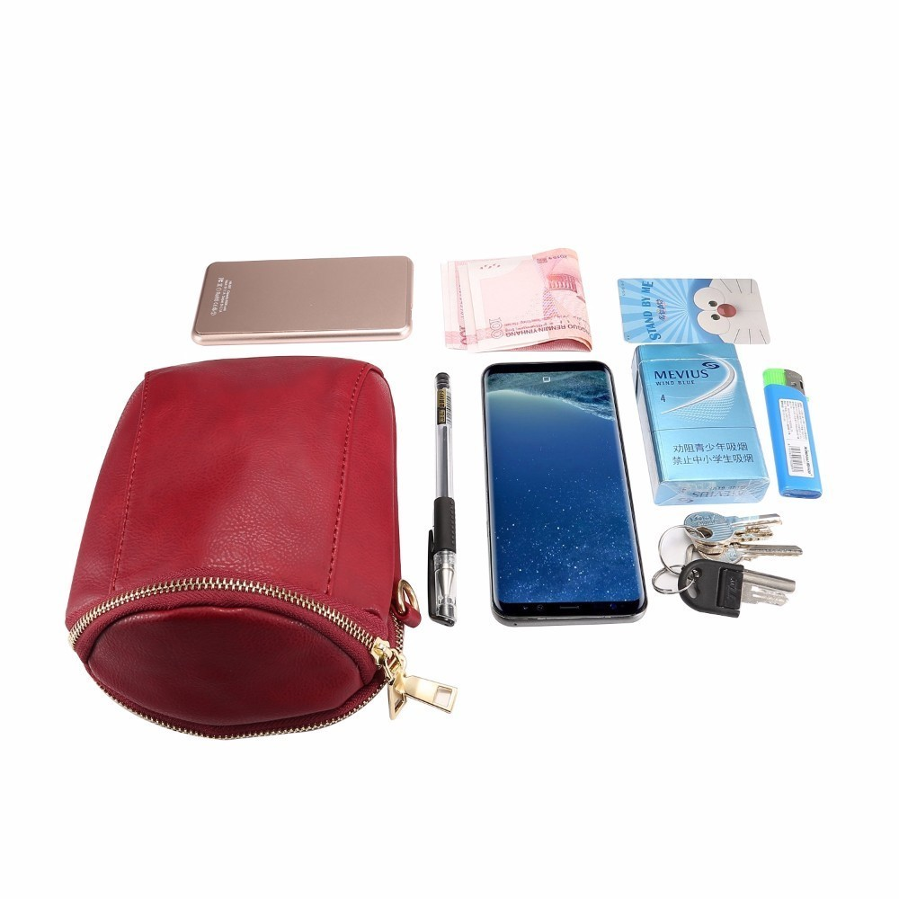 Fashion Women Bag Zipper Belt Pouch Phone Wallet Cover Cases For Samsung iPhone Cell Phone