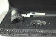 Dermatoskop 10X büyütme güçlü deri çanta koruyun AA pil ölçekli geleneksel dermoskopi dermal cilt teşhis