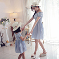 2016  New Baby Girls Dresses Summer Matching Mother Daughter Dress Plus Size Lady Chiffon toddler Family Clothing Free shopping