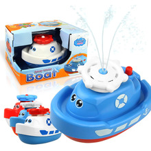 Cartoon Spraying Water Baby Bath Toy Infant Electric Rotating Water Jet Boat Toy Bathroom Shower Bathtub