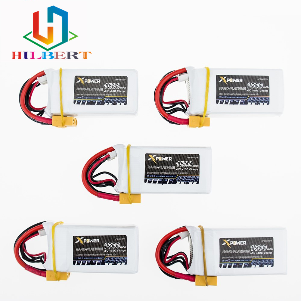 Coolhobby 5pcs 1500Mah 14.8V 4S 45C Lithium Li-po Battery XT60 Plug For RC Helicopter Qudcopter Drone Truck Car Boat Bateria par 1pcs 1500mah 14 8v 4s 45c li po battery xt60 plug for rc helicopter qudcopter drone truck car boat