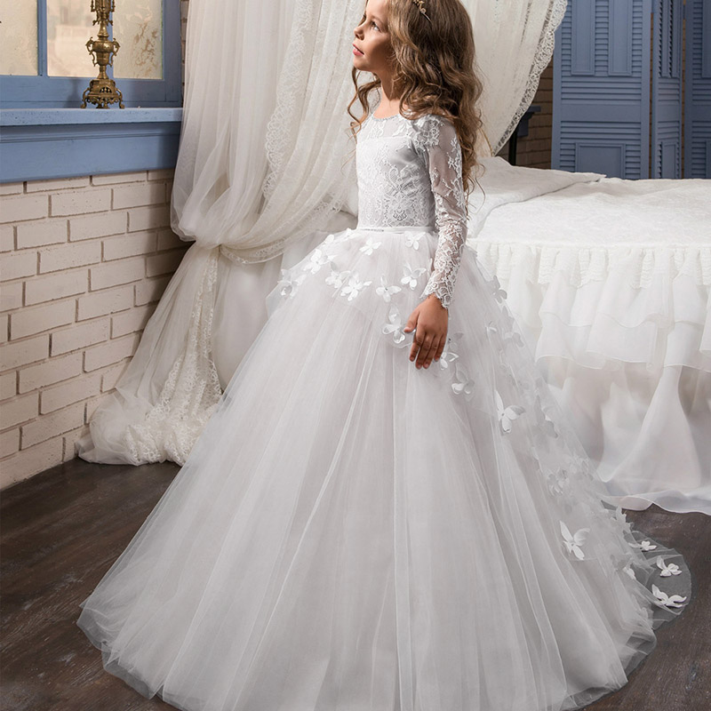 Girl   Pengpeng Ball Party   Dress   Princess   Flower   Boy Dinner   Dress   Piano Performance Wedding   Dress   Long Mop   Dress   vestidos