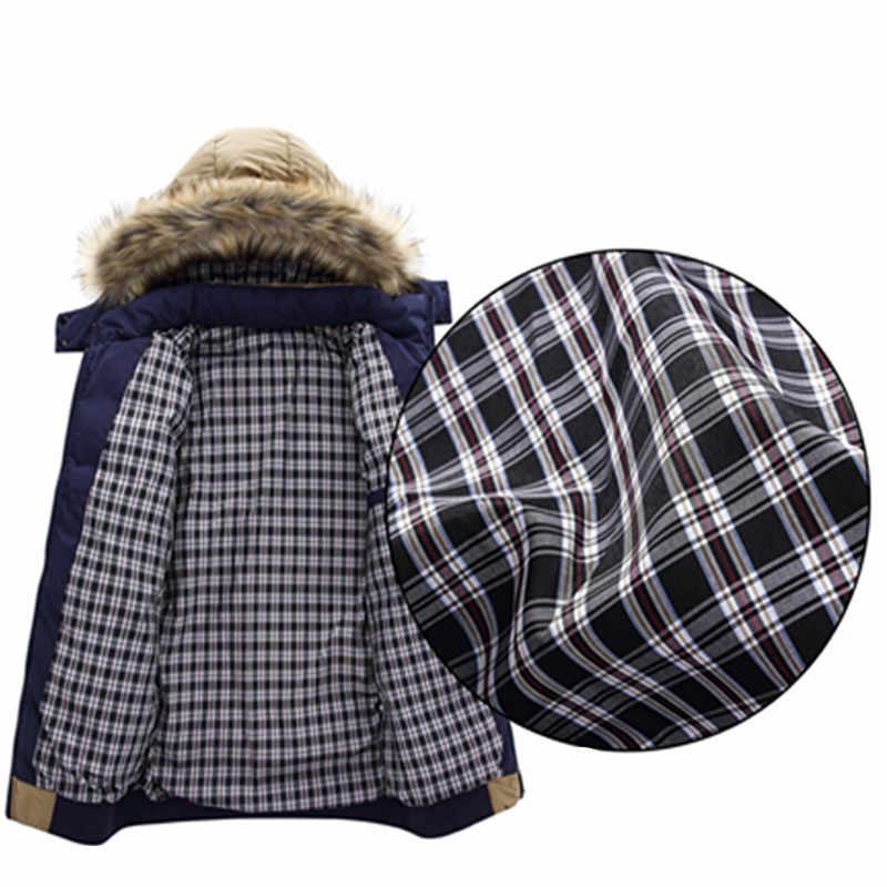 2019, 9 цветов, модный бренд, зимний мужской пуховик с меховым капюшоном, шапка, тонкая мужская верхняя одежда, пальто, повседневные Толстые мужские пуховики, 4XL