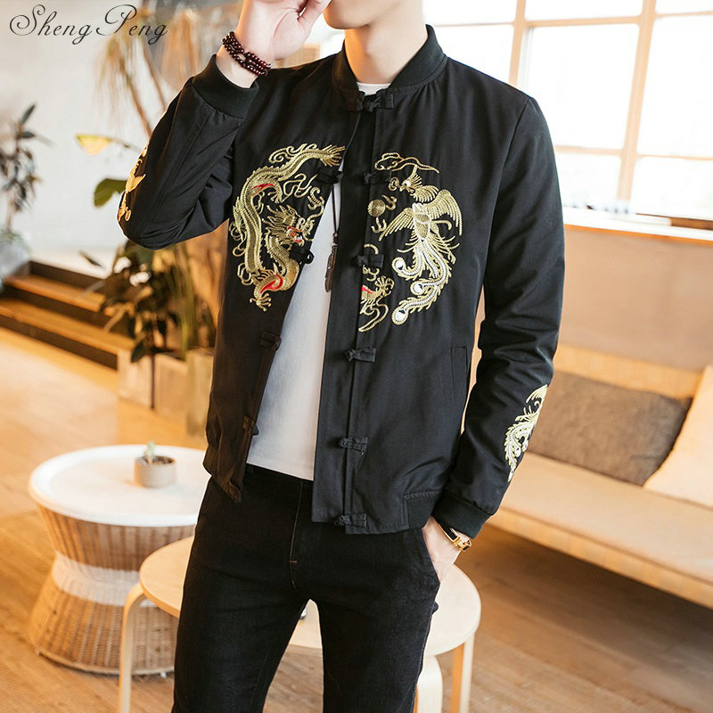 Vêtements chinois traditionnels pour hommes veste dragon chinois shanghai tang kung fu vêtements style chinois vêtements tang Q593