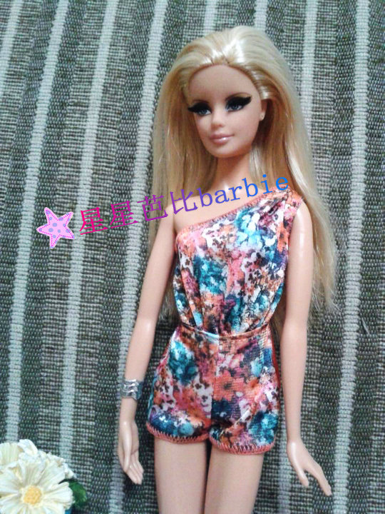 Xmas Festival Gifts For Girls Doll Slim Short Piece pants trousers bobtail Clothes For Barbie 1