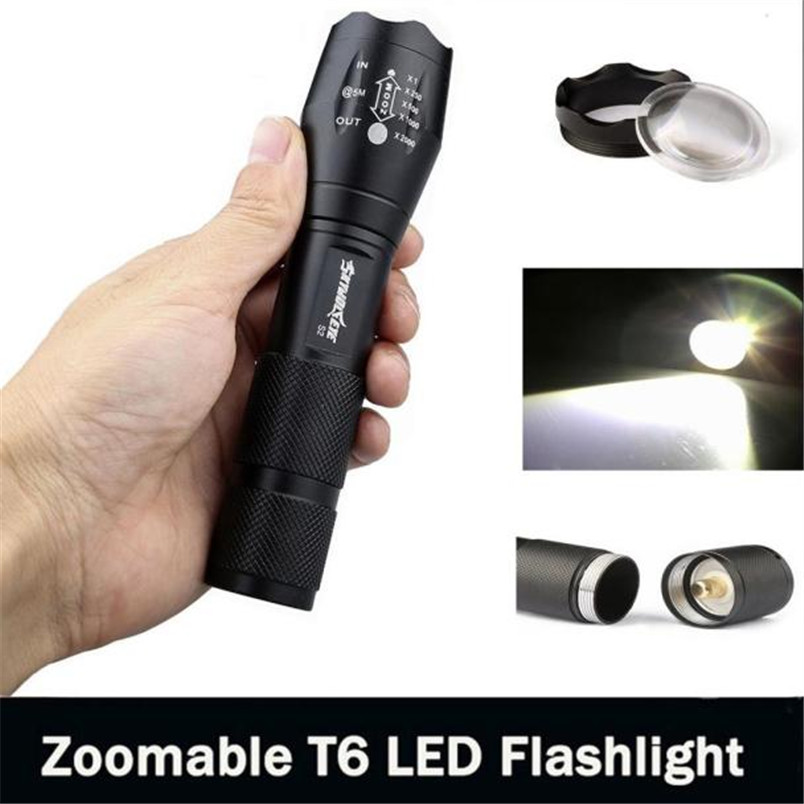 2017 New 3500 Lumen 5 Modes CREE XM-L T6 LED Torch Powerful 18650 Flashlight Lamp Light Wholesales NOM10 outdoor camping cree xm l 2000lm waterproof 5 modes focus adjustable led flashlight torch light lamp with 18650 and bike clip