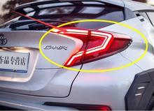 Бампер автомобиля taillamp для 2017 2018 2016 CHR задний фонарь DRL + тормоз парк сигнальные огни C-HR C HR задняя фара светодиодная один комплект 4 шт. один комплект