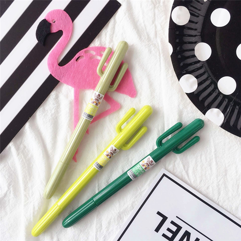 3 шт. 0,35 мм Творческий кактус ручка подарки на день рождения для детей с днем рождения Baby Shower вечерние поставки Гавайи вечерние. Q