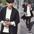 Мужские Пальто Новая Мода Повседневная Дизайнер Мужчины Длинное Пальто Осень Ветрозащитный Свободный Тренчкот Мужчины Плюс Размер K844