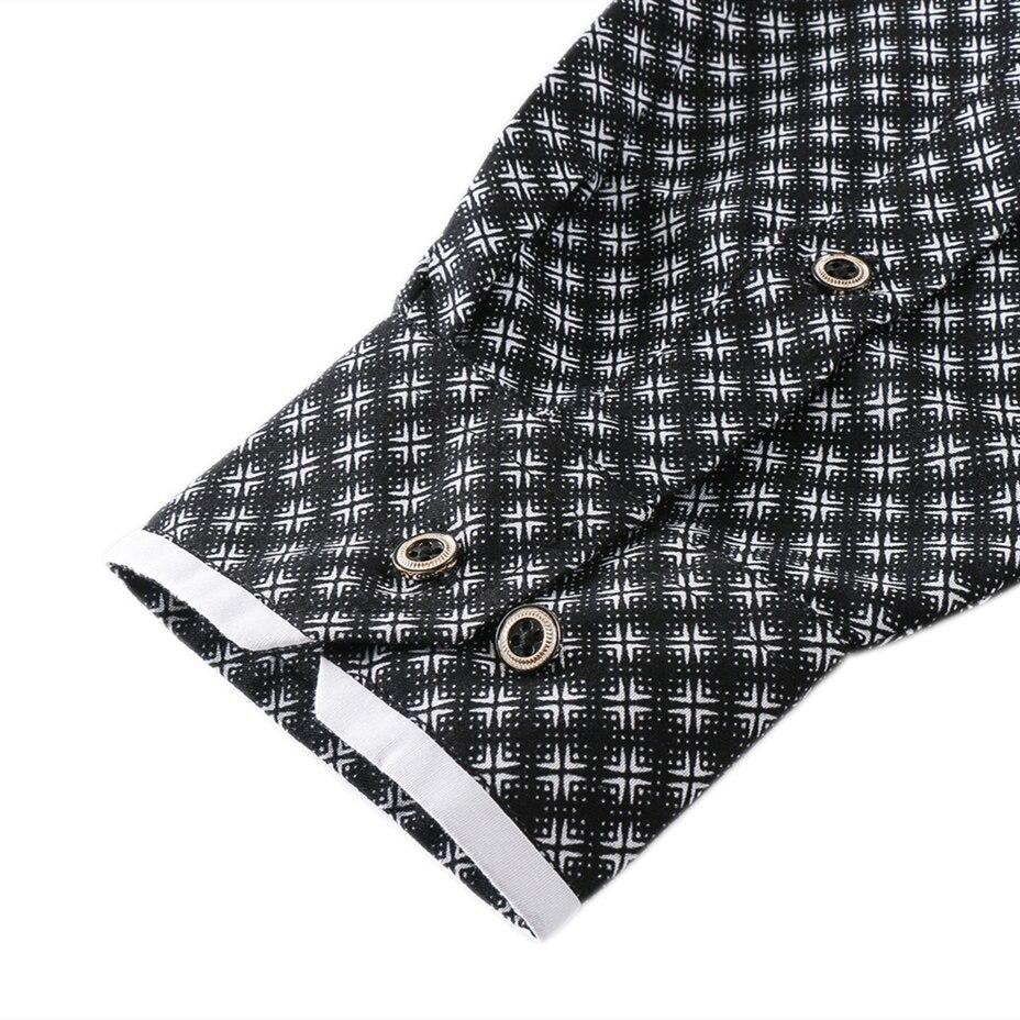2019 DEFEICIGA Shirt MaleWithout Pocket Men Clothes Slim Fit Men Long Sleeve Shirt Men Casual Men Shirt Social Plus Size 7XL 065