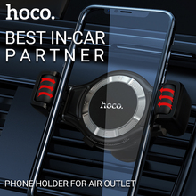 hoco car phone holder for iphone samsung xiaomi huawei in-car bracket air outlet mount universal mobile smartphone