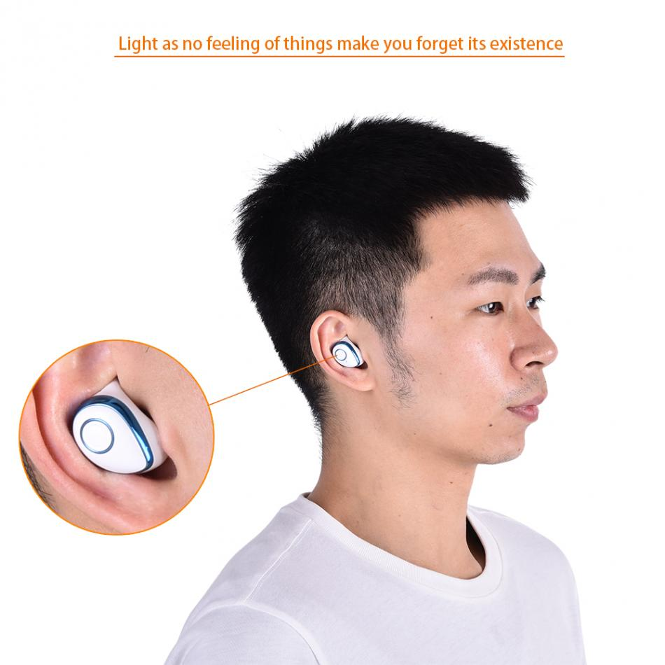 Dual Wireless Bluetooth 4.2 TWS Stereo Waterproof Portable Earphone Earbud for Iphone