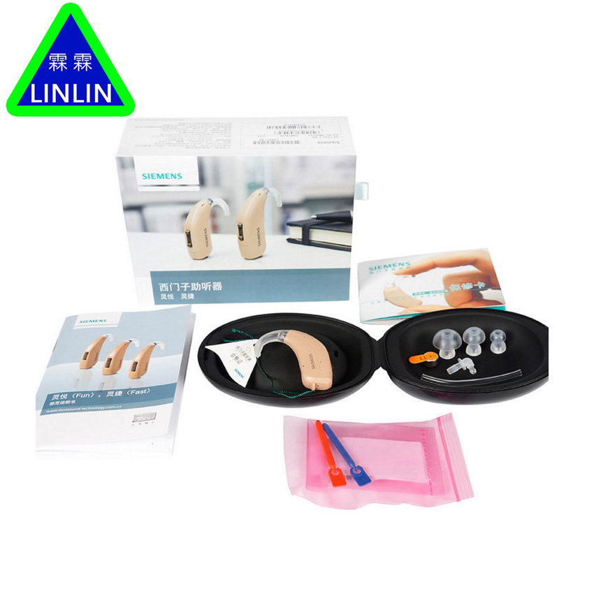 LINLIN hearing aids Lotus 12P BTE Powerful Hearing Aid Wireless Old People Authentic SIEMENS wireless ear