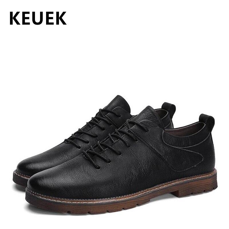 Estilo Negocios Planos De Llegada Primavera Lujo 02c marrón Encaje Los La Zapatos Populares Hombres Vintage Nueva Cuero Hombre Negro Casuales Británico wxZqXd7Z5