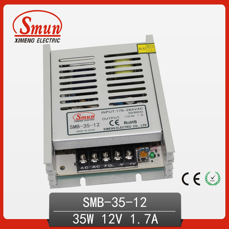 SMUN 35W Ultra Thin Single Output Switching Power Supply 12V 3A AC-DC Slim Led Driver SMB-35-12 встраиваемая акустика speakercraft profile accufit ultra slim one single asm53101 2