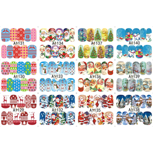 Image 4 - 48 sheets Nail Stickers Set Christmas Winter Snowflake Women Red White Slider Gift Manicure Foil For Nail Art Decal SAA1129 1176