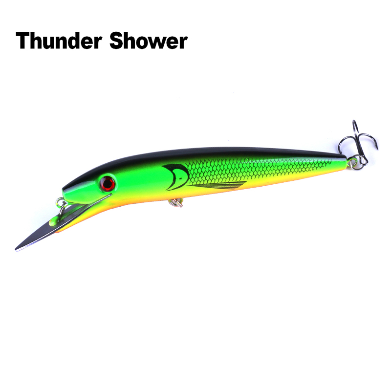 Thundershower 1PCS Big Minnow Fishing Lure 47g/20cm Deep Sea Trolling Bait With Metal Tongue
