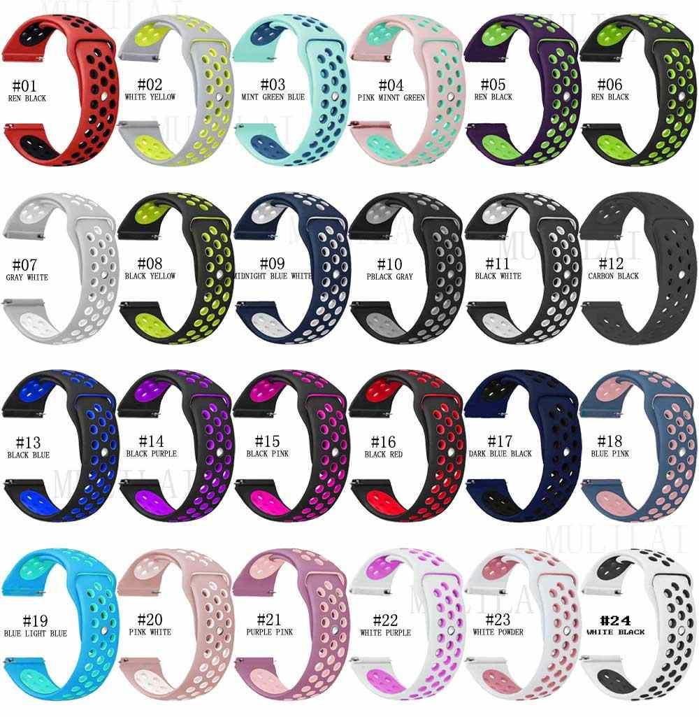 Bracelet silicone de marque pour xiaomi huami Amazfit bip bracelet de montre 20 22 mm pour Samsung Gear sport S3 S2 frontière classique SM-R760/R770
