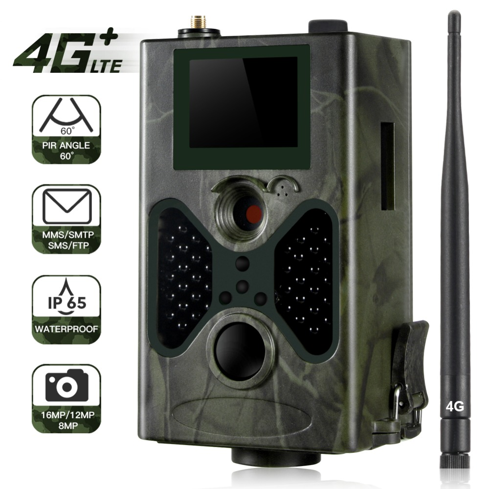 FTP Email 4G MMS Hunting Trail Camera 16MP 1080P SMTP SMS Wildlife Cameras Cellular Mobile HC330LTE Night Vision Wild Cam