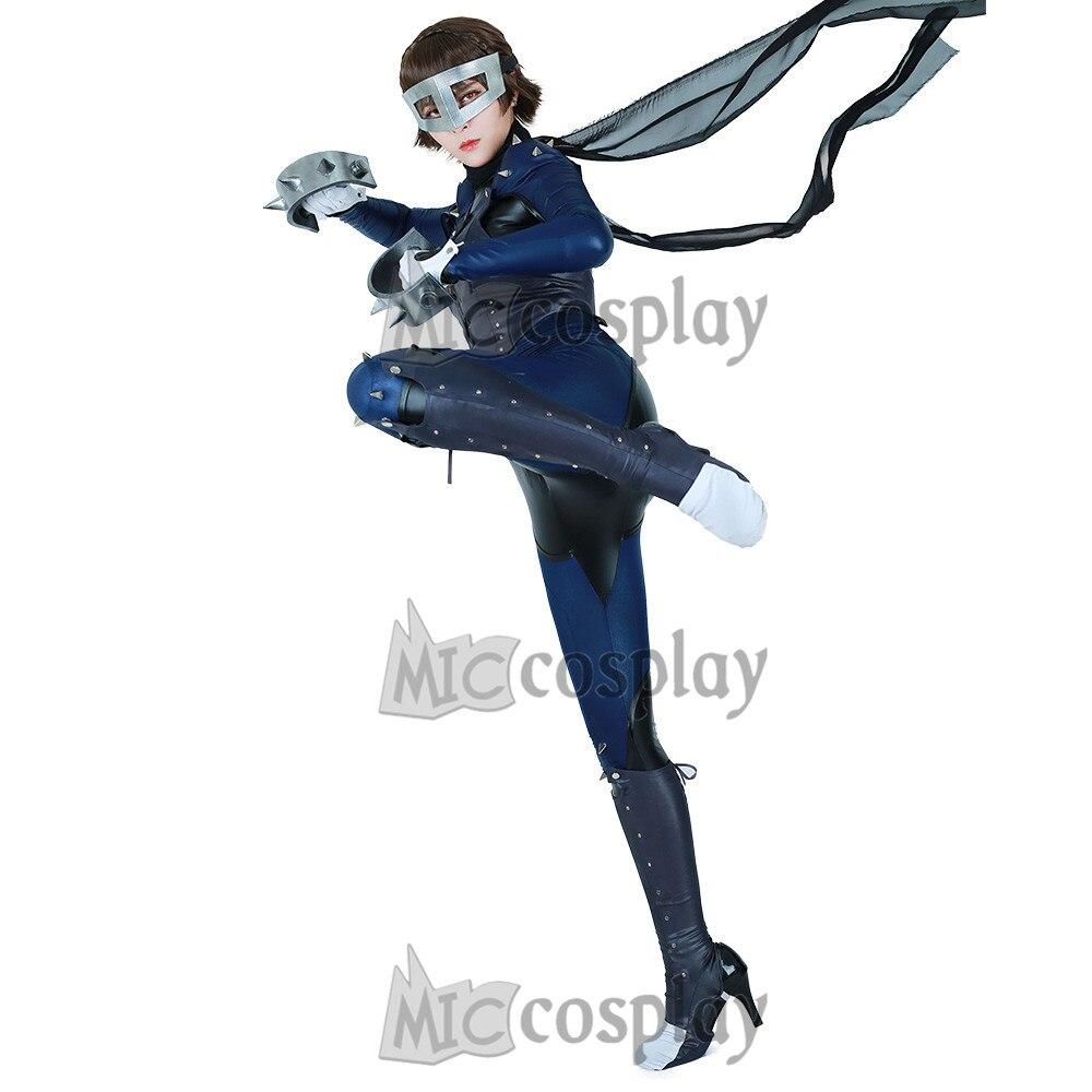 Persona 5 Makoto Nijima Phantom Thief Cosplay Costume with Mask 2018 persona 5 makoto nijima cosplay costumes women school uniform
