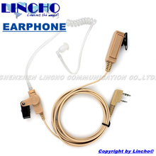 hidden color walkie talkie acoustic clear air tube earpiece K connector for baofeng uv-5r, KG-UVD1P