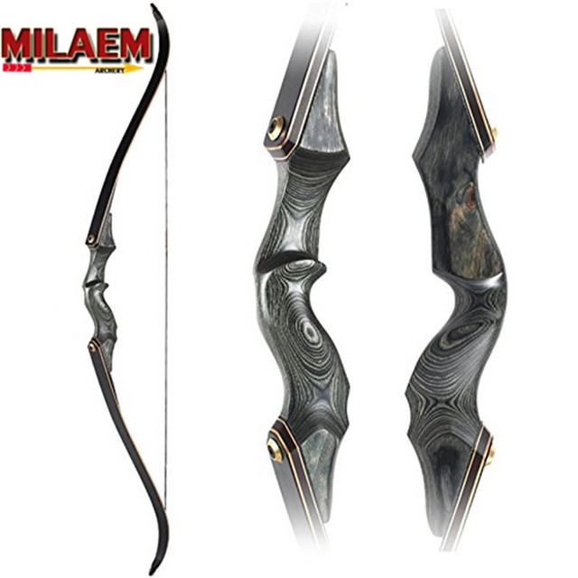30-60bls 60 Inch Archery Takedown Recurve Bow Black Fiberglass Limbs Right Hand For Outdoor Hunting Shooting Sports Practice Acc