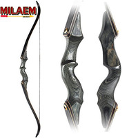 30 60bls 60 Inch Archery Takedown Recurve Bow Black Fiberglass Limbs Right Hand For Outdoor Hunting Shooting Sports Practice Acc