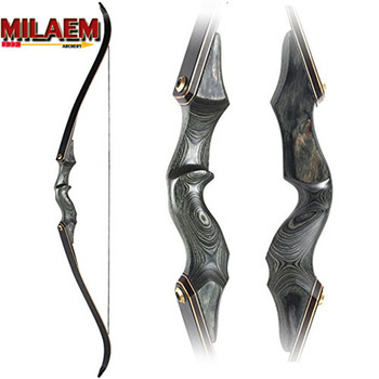 df7e1cd94 30-60bls 60 pulgadas de Tiro con Arco desmontaje arco recurvo arco de fibra  de vidrio negro miembros mano derecha para caza al aire libre deportes de  tiro ...