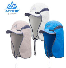 цена на AONIJIE Summer Sun Hat UV Protection Men Women Hiking Cap Cycling Camping Fishing Foldable Sun Caps UV Sun Protection Hat