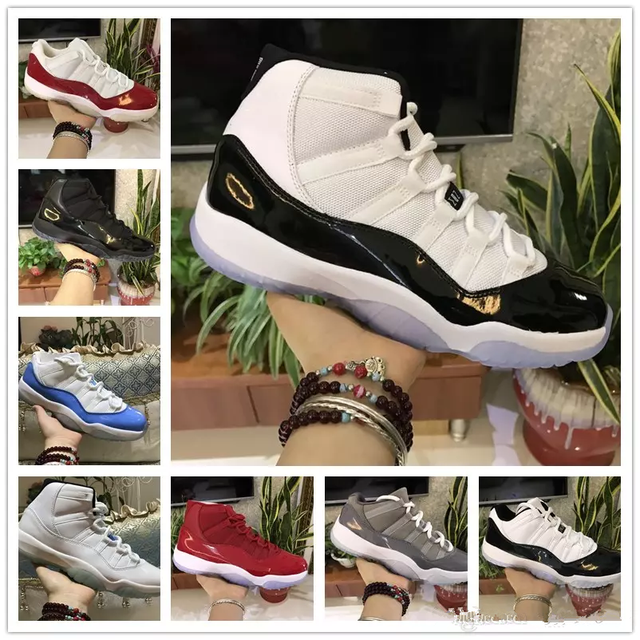 11s Prom Night Basketball Shoes 11 Men Women Cap And Gown Gym Red