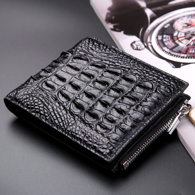 100% TOP cow genuine leather men wallets Crocodile skin wallet crocodile clutch purse hidden pocket wallet leather men wallet etya genuine cow leather men wallets