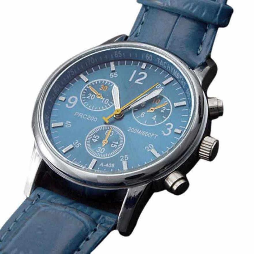 Timezone #301 แฟชั่นนาฬิกาชาย Relogio Masculino จระเข้ Faux หนัง Band Mens Analog นาฬิกานาฬิกา