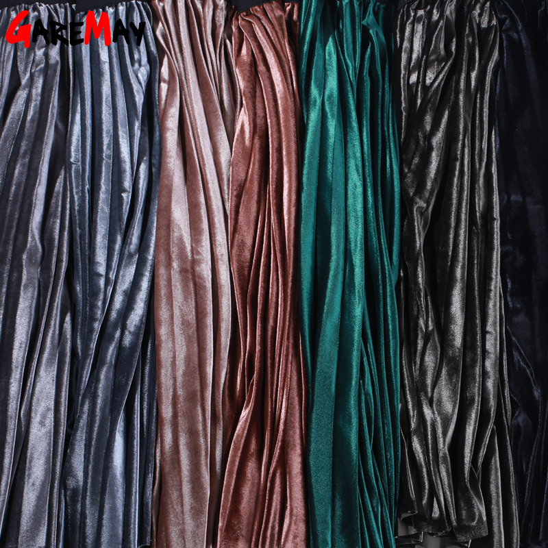 여성 스커트 주름 Faldas Largas Jupe 팜므 긴 따뜻한 - 여성 의류 - 사진 6