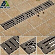 オイルラビングブロンズ浴室のシャワー床排水ステンレス鋼 70 センチメートルリニアロング浴室火格子チャンネルタイル排水tile displaydraintile shower floor drain