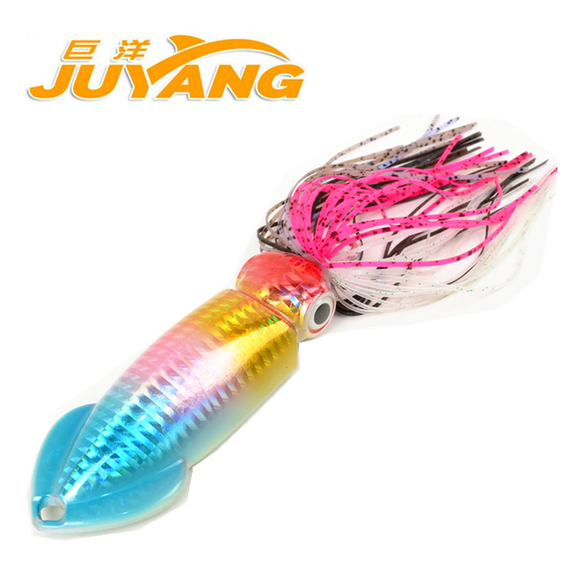 95g 200g Juyang Lead Metal Sinker Jigging Lure Slow Pitch Sinking Jig Deep Sea Artificial Fishing Bait Saltwater Ocean Trolling ...