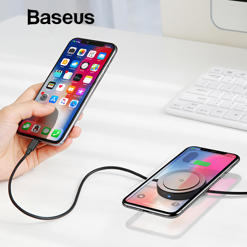 Baseus USB Cable With Wireless Charging Function for iPhone X XS Max XR 8 Fast Charging Wireless Charger For Samsung S9 S8 Note9 image