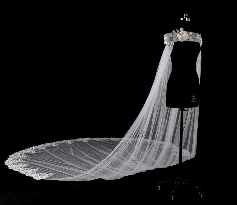 Appliques longue mariée boléro de mariage veste dentelle nouveaux enveloppes de mariée pour les accessoires de mariage d'été 2018 en Stock