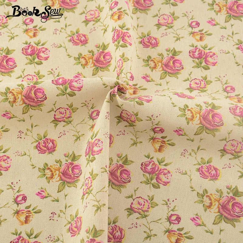 Booksew Tessuto Africano Stampa Floreale di Rosa Disegno di Cotone di Tela Tessuto Cucito Tissu Per Bag Tovaglia Tenda Cuscino