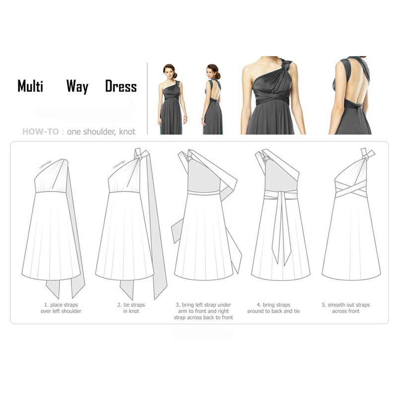 Sexy Long Dress Bridesmaid Formal Multi Way Wrap Convertible Infinity Maxi Dress Navy Blue Hollow Out Party Bandage Vestidos 33