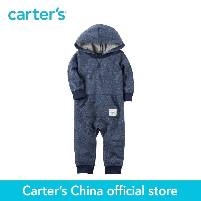 Carter's 1pcs baby children kids Hooded French Terry Jumpsuit 118H266,sold by Carter's China official store  carter s 1 pcs baby children kids long sleeve embroidered lace tee 253g688 sold by carter s china official store