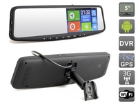 5 HD1080P Android 4 4 2 Car Rear View Mirror GPS DVR Navigation Tracker 3G WIFI