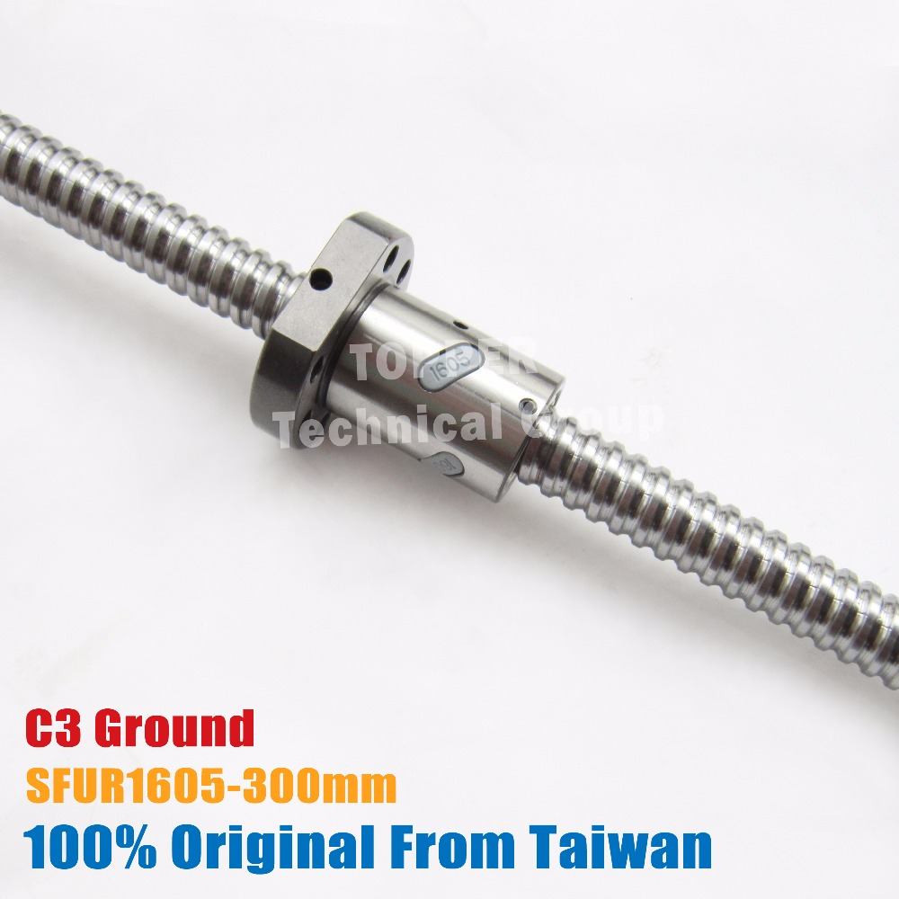 taiwan TBI 1605 C3 300mm customized grinding ballscrew with SFU1605 ball nut end machined for high